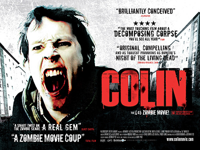 Quad poster design by Bobo for the zombie film Colin