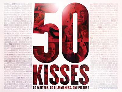 Quad poster design by Bobo for the film 50 Kisses