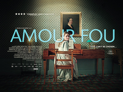 Quad poster design by Bobo for the film Amour Fou