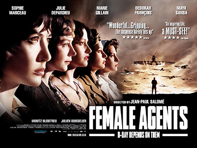 Quad poster design by Bobo for the film Female Agents