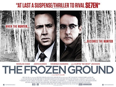 Quad poster original design by Bobo for the film The Frozen Ground