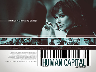 Quad poster design by Bobo for the film Human Capital