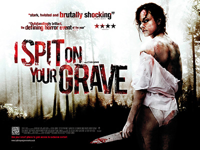 Quad poster design by Bobo for the film I Spit on your Grave