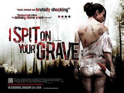 Alternate original quad poster design by Bobo for the film I Spit on your Grave