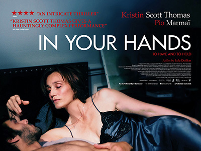 Quad poster design by Bobo for the film In Your Hands
