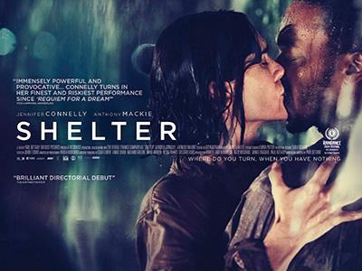 Quad poster original design by Bobo for the film Shelter