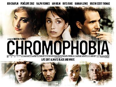 Quad poster design by Bobo for the film Chromophobia