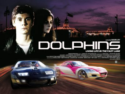 Quad poster design by Bobo for the film Dolphins