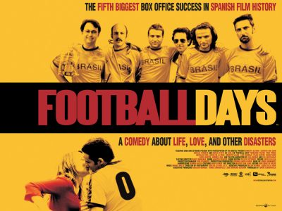 Quad poster design by Bobo for the film Football Days