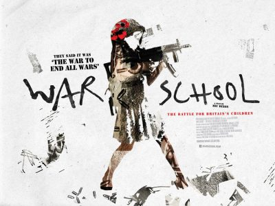 Quad poster design by Bobo for the film War School