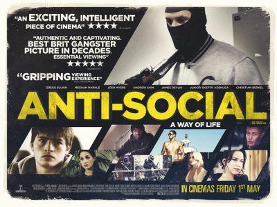 Quad poster design by Bobo for the film Anti-Social