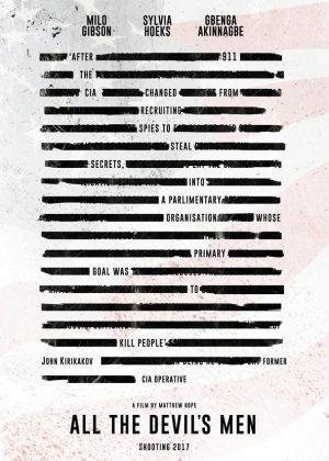 All The Devils Men original teaer 1 sheet film poster design by Bobo