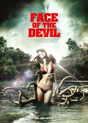 Face of the Devil original 1 sheet film poster design by Bobo