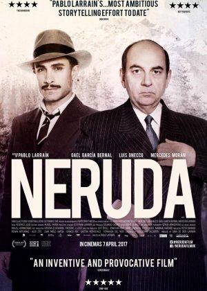 Neruda original 1 sheet film poster design by Bobo