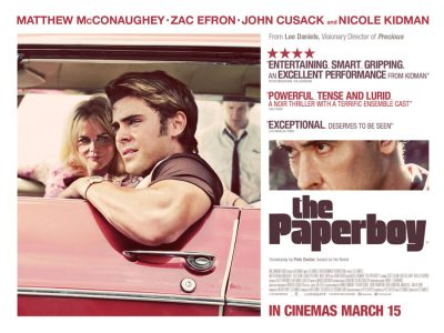 Quad poster design by Bobo for the film The Paperboy