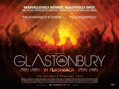 Quad poster design by Bobo for the film Glastonbury