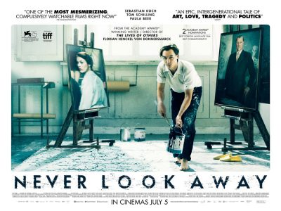 Quad poster design by Bobo for the film Never Look Away