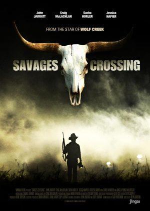 Savages Crossing original 1 sheet film poster design by Bobo