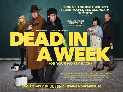 Dead in a Week original comedy film poster design by Bobo