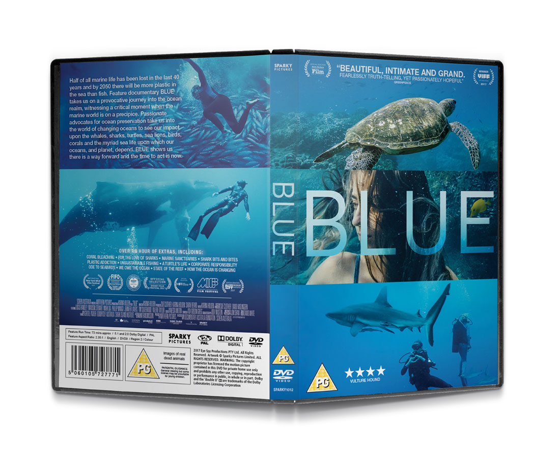Blue packaging design by What is Bobo