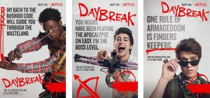 charactor posters for Daybreak