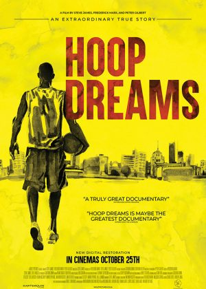 Original Sales poster art by Bobo : Hoop Dreams