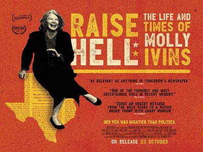 Adaptation Quad poster design : Raise Hell: The Life and Times of Molly Ivins